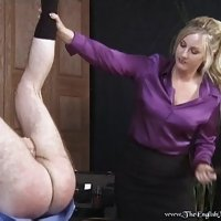 Lady Birch and Mistress Sidonia punish client