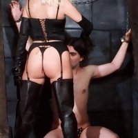 Stern UK Mistress flogs Her chained servant