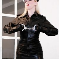Uniformed Mistress takes a stern stance against misbehaviour