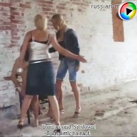 Tough girls will smash cheeky bastard on an abandoned suburban farm