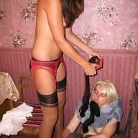 Humiliated house slave