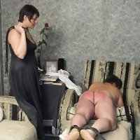 Guy's painful ass deserves more severe spanking and punishment