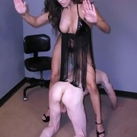 OTK spanked with her bare hands